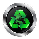 Recycle Button With Recycle Button Going Around the Earth