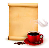 Menu for restaurant. Coffee design template. Vector illustration