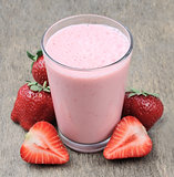 strawberry fruits and smoothies