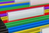 Multi colored File Folders
