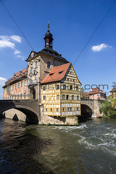 The old Town Hall in Bamberg, Germany.