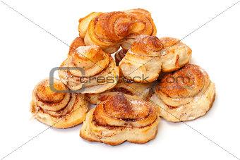 Fresh appetizing sweet rolls