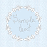seamless pattern with round frame for your design