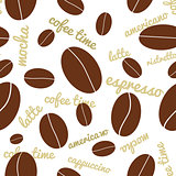 Seamless coffee beans background
