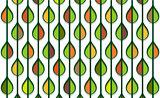 autumn stylized leaf pattern