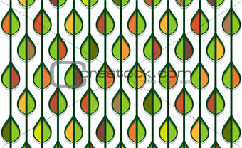 autumn stylized leaf pattern