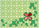 background four leaf clovers