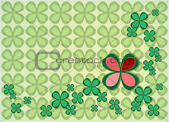 background four leaf clovers