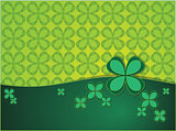 green background with clover leaf
