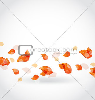 Autumn leaves fall, beautiful nature background