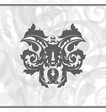 Damask ornamental background or wallpaper