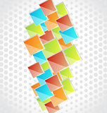 Abstract creative background with colorful square
