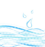 Abstract water background with drops