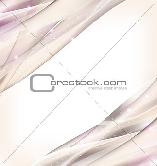 Abstract wavy background, business card