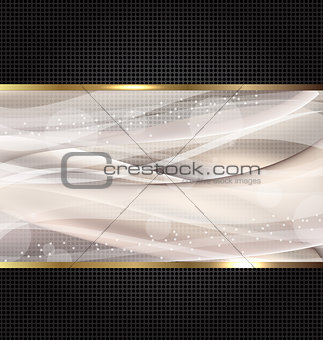 Abstract black wavy design template