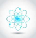 Atom symbol isolated on white background