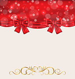 Holiday background with gift bows