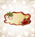 Greeting elegant card with Christmas ball