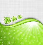 St. Patrick Day background with trefoil