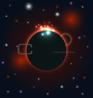 Abstract circular cosmos galaxy design