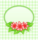 Cute spring card with flowers and leaves