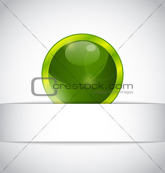 Abstract eco ball sticking out of the cut paper