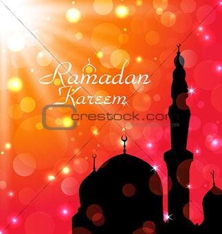 Celebration card for Ramadan Kareem
