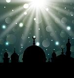 Celebration glowing card for Eid Ul Adha festival