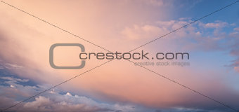 Beautiful vibrant cloud formations as background