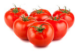 Six ripe red tomato