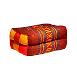 Thai style colorlul cotton pillow isolated