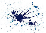 blue splash painting