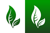 Leaf Pair Icon Vector Illustration