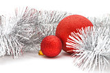 red balls and garland