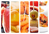 spanish tapas collage