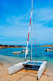 Cala Sa Roqueta cove in Formentera, Balearic Islands, Spain