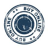 Buy online concept stamp
