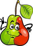funny pear fruit cartoon illustration