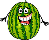 funny watermelon fruit cartoon illustration