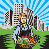 farmer-female-harvest-building