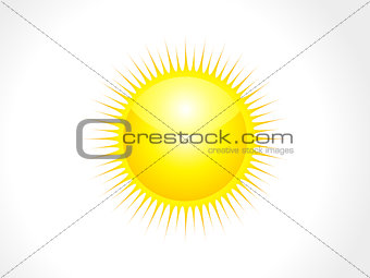abstract glossy sun