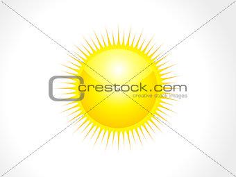 abstract glossy sun