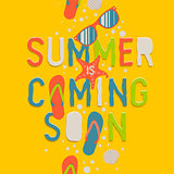 Summer coming soon, background, vector Eps10 illustration.
