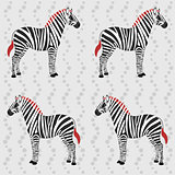 Zebra pattern with flower stripes