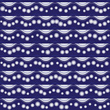 Seamless pattern with stripy ornament