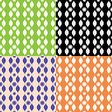 Set of seamless patterns with stripy ornament