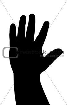 baby hand vector