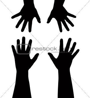 sister's hands vector