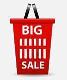 Big sale sign, label template
