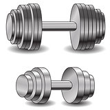 two dumbells